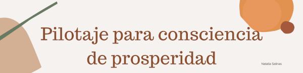 Pilotaje para consciencia de prosperidad.