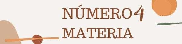 Número 4 - Materia